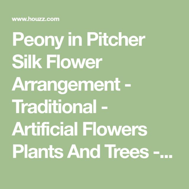 Peony in Pitcher Silk Flower Arrangement - Traditional - Artificial Flowers Plants And Trees - by bebanet inc dba