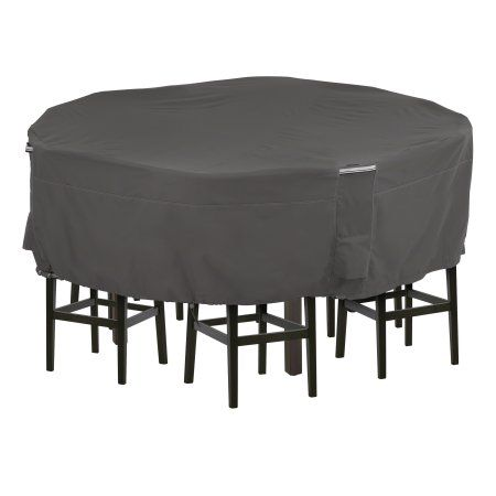Classic Accessories Ravenna Tall Round Patio Table Chair Set