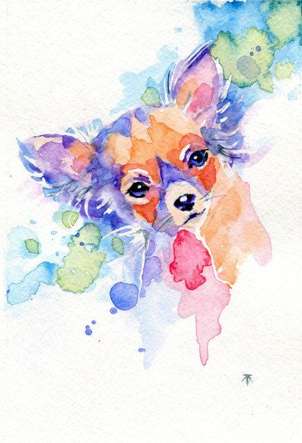 Watercolor Chihuahua print chihuahua art by Tara Iris, $12.00