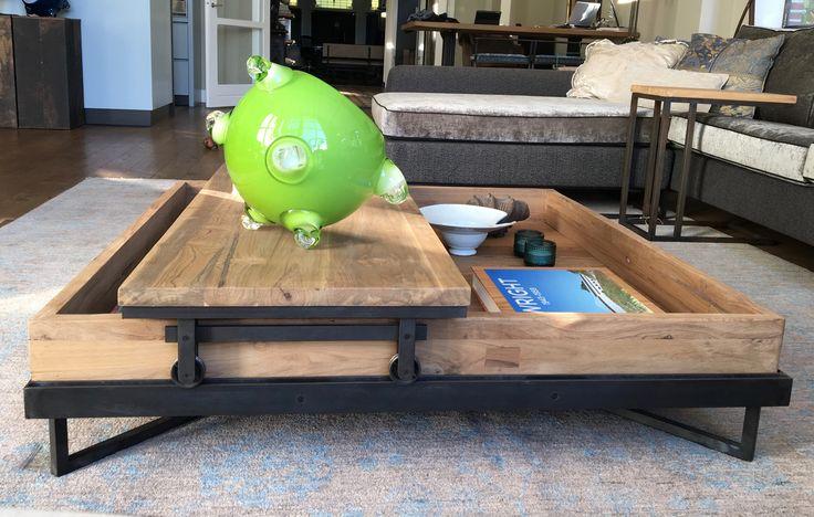 Zafar tafel, liggende fotolijst met beweegbaar bovenblad. Ontwerp Bart van Bekhoven
