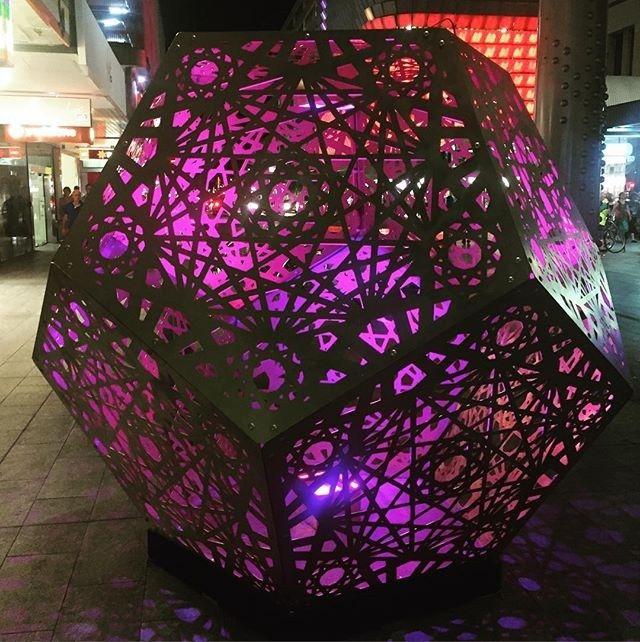 The beautiful HYBYCOZO in Rundle Mall #adlfringe #hybycozo #beautiful #pink #rundlemall #Adelaide