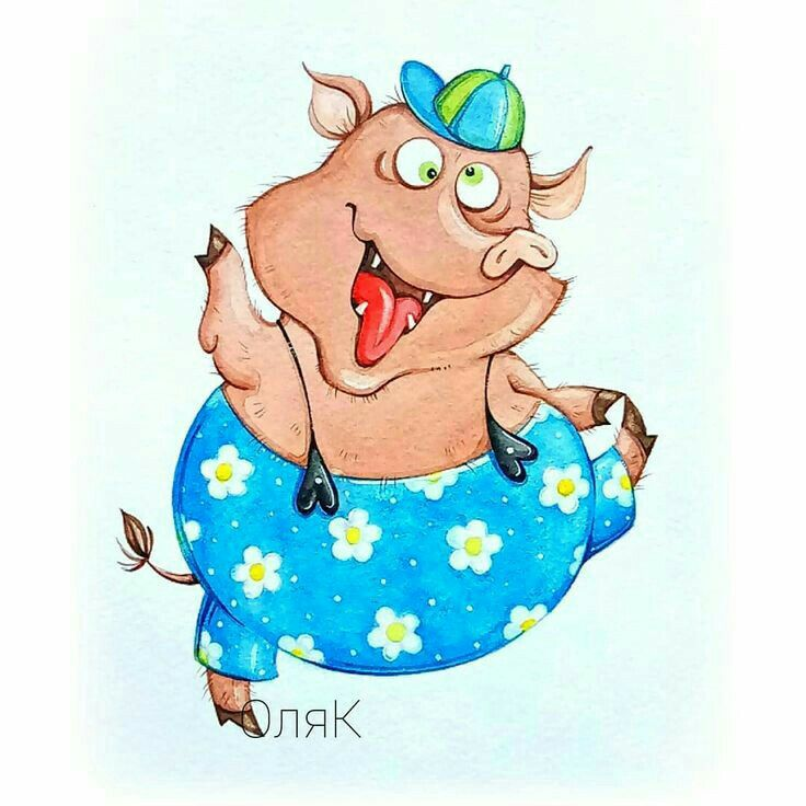 Лет хрустальная, свинки картинки прикольные нарисованные