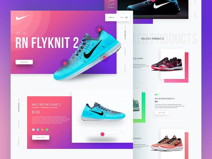 Footwear Landing page Design (Concept) Landing page