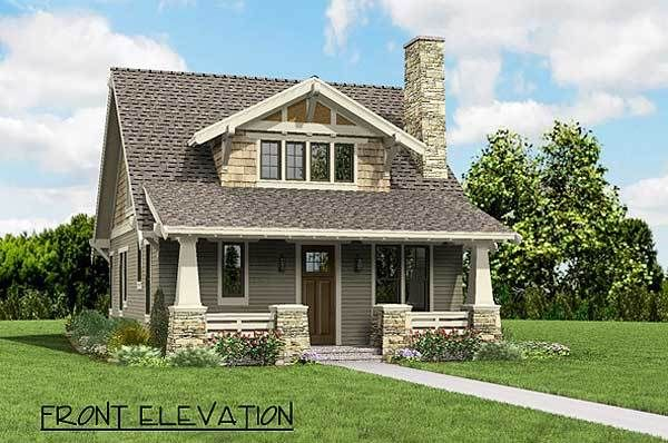 Plan 69541am bungalow with open floor plan loft stone for Open floor plan homes with loft
