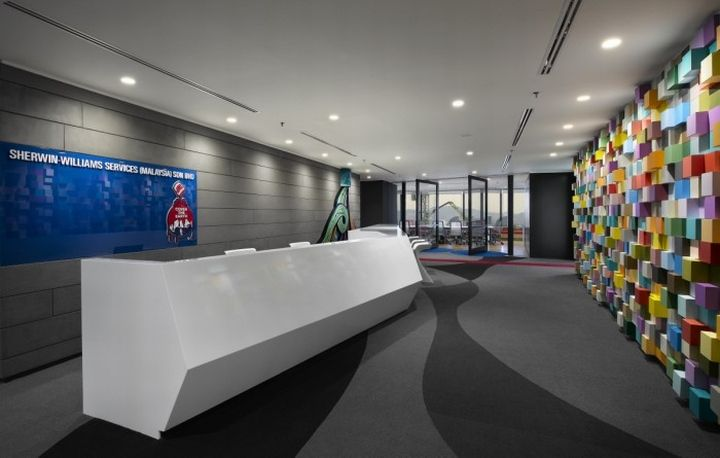 Sherwin williams offices by m moser associates kuala for Office design kuala lumpur