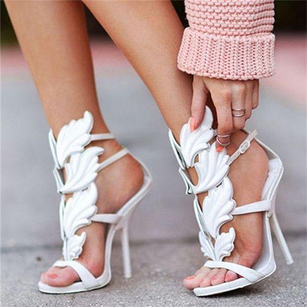 Cruel Summer Flame Sandals Wing Open Toe Cut-Outs Platform High Heels Gladiator Sandals women Party Shoes Woman Sandalias Mujer alishoppbrasil