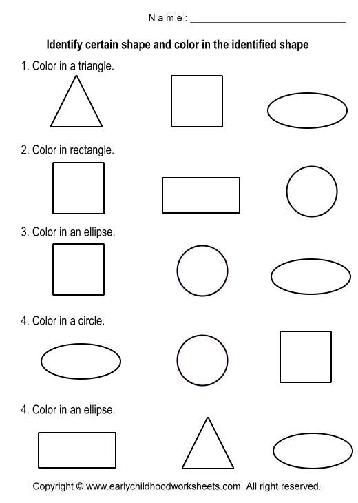shapes worksheets Coloring Shapes Worksheets Worksheet