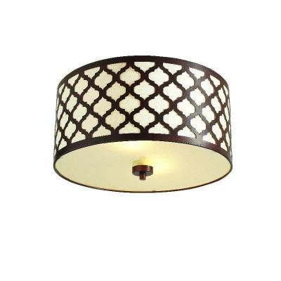 Office lighting  Hampton Bay Edgemoor Oil Rubbed Bronze Semi Flush at The Home  Depot. 37 best images about let there be light  on Pinterest   Modern