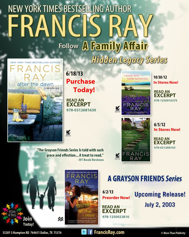 Francis Ray's AFTER THE DAWN In Stores Today!