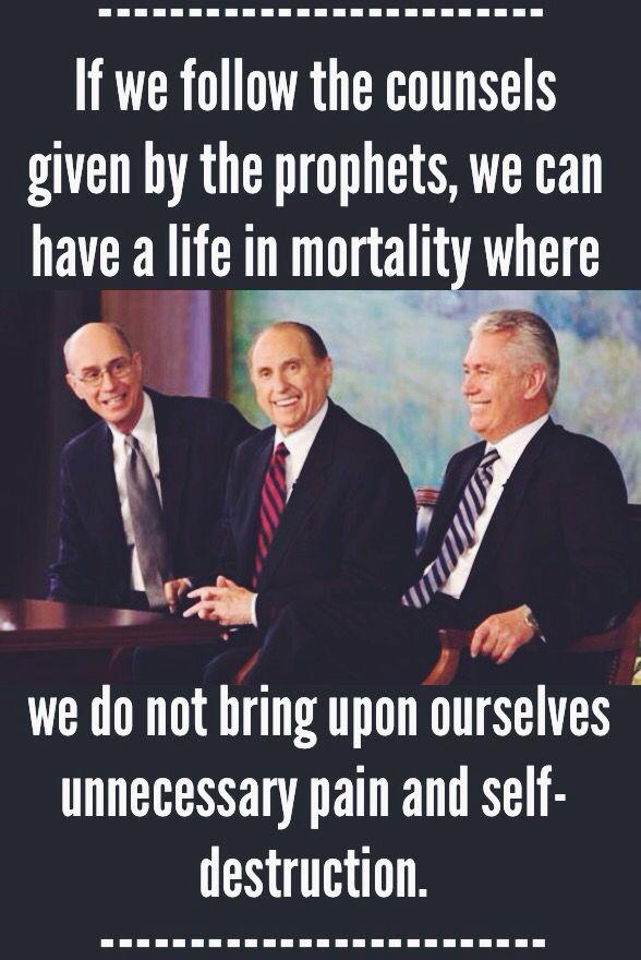 """""""Wenn wir den Ratschlägen der Propheten folgen, können wir ein Leben in Sterblichkeit führen, wenn … – Let your faith show ☀️"""