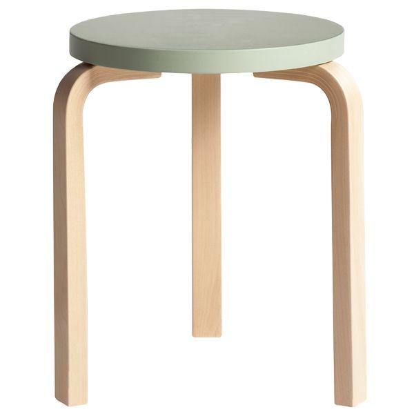 Green Aalto stool 60. #aaltodesign