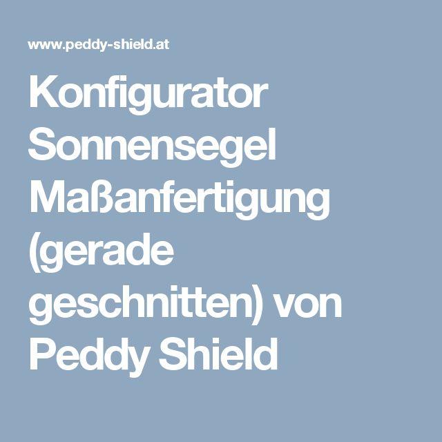 Konfigurator Sonnensegel Maßanfertigung (gerade geschnitten) von Peddy Shield