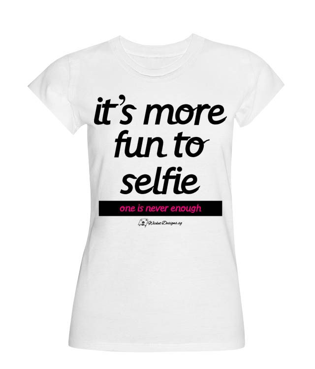It's more fun to stretch out your hand and point your camera back at yourself for a selfie! It's just more satisfying, if you get what I mean. For all you selfie addicts out there! You know yourself! Grab this now!