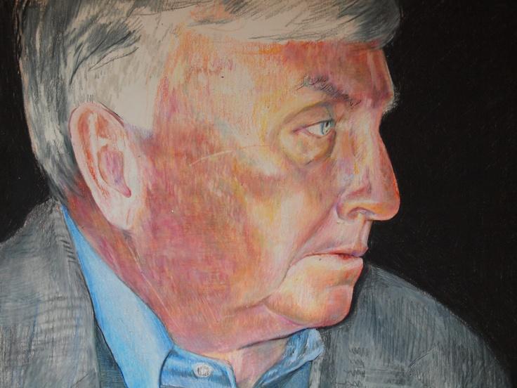 Annie Flynn. Portrait in colored pencil.