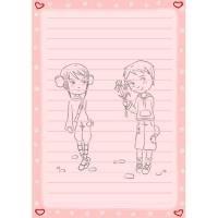 Papier a lettre saint Valentin