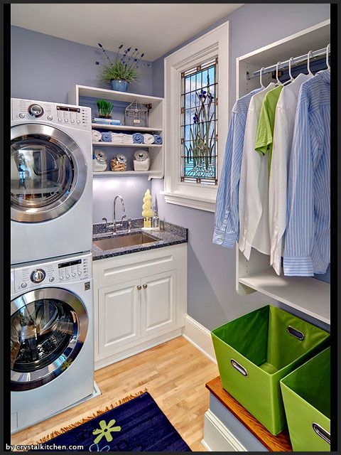 Our washer and dryer look like this but they aren't currently stacked. I didn't think I wanted them to be but maybe I do now...