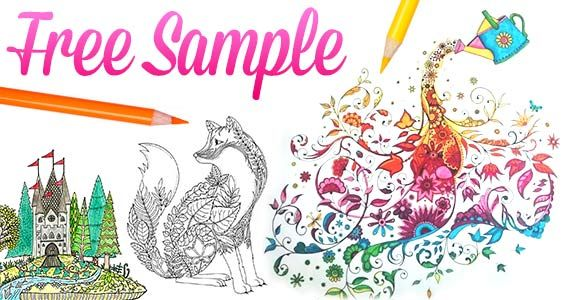 Enchanted Forest Adult Coloring Book For Free Womanfreebies Category Samples
