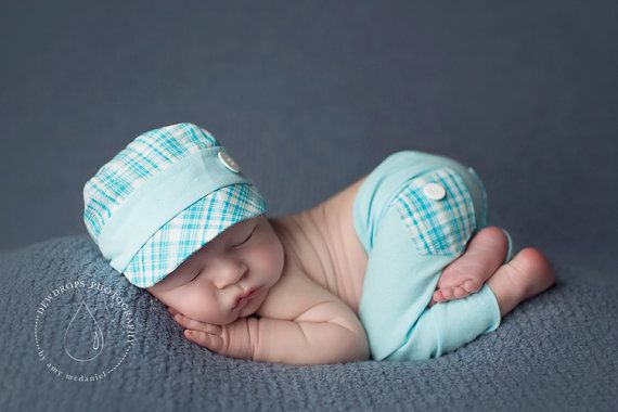 newborn boy HAT & PANT set Conner  photography by adorableprops