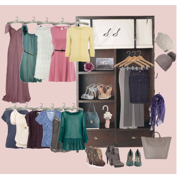 A soft summer closet, created by jenmariecolor on Polyvore