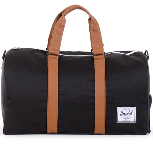 Herschel Novel Poly Duffle Bag Black Tan 7635