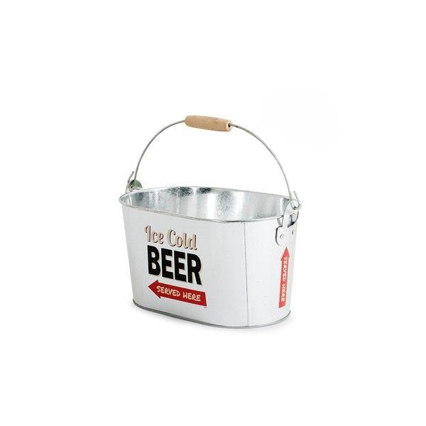 Enfriador de cerveza Party Time (12,95€), un recipiente metálico de estilo retro para mantener bien frías esas cervezas compartidas con amigos.