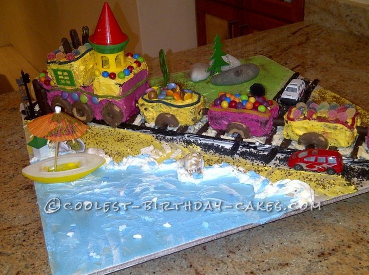 65 Best Train Cake Ideas Images On Pinterest Train Cakes