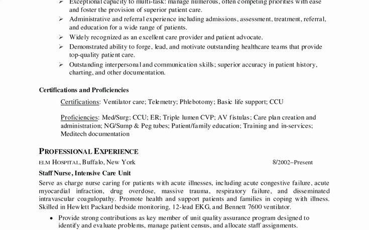 Entry level registered nurse resume lovely nursing resume