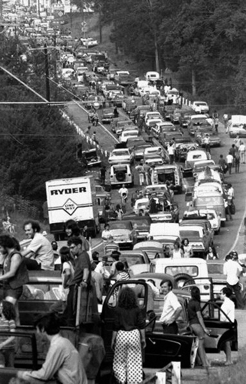 August 15, 1969: Woodstock Festival begins in upstate New York  Photo: New York Daily News / Getty