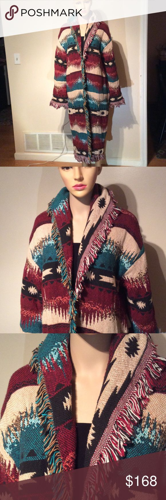 Gorgeous vintage % cotton tapestry coat Open front,very good condition sugar street weavers Jackets & Coats