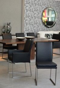 6304K Leather Dining Chair. Available with or without arms, this chair comes in white or black leather.