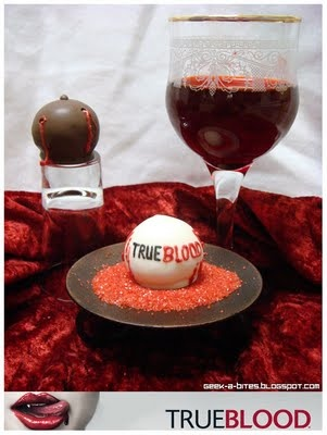 True Blood Cake Bites from Geek-A- Bites...what do you think @Lareen Strong?