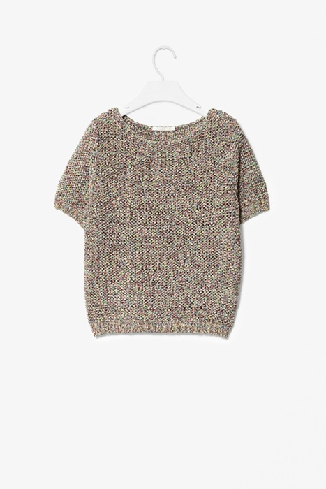 Melange knit top