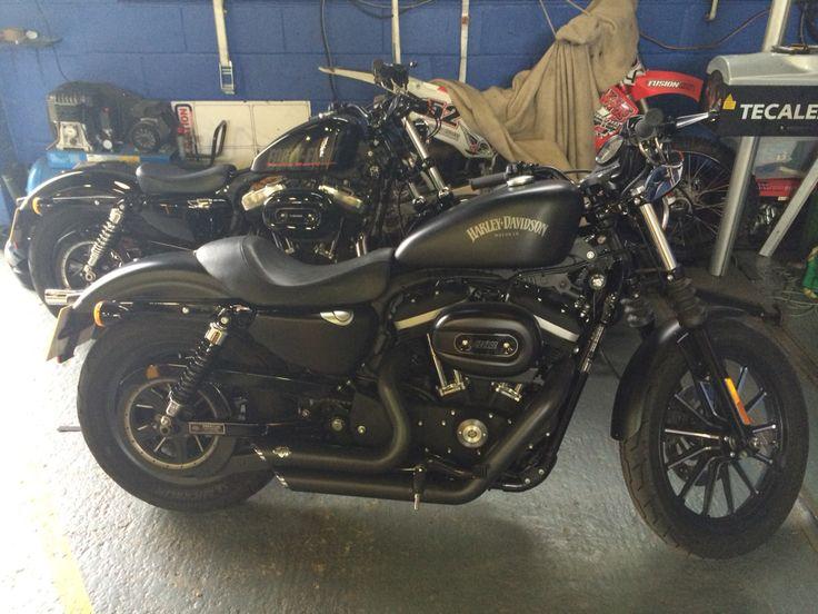 My Harley Davidson 883 IRON with a customers harley