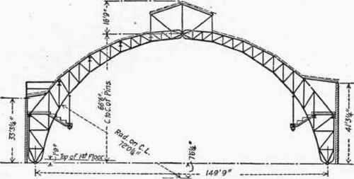 elevation of truss  chicago coliseum