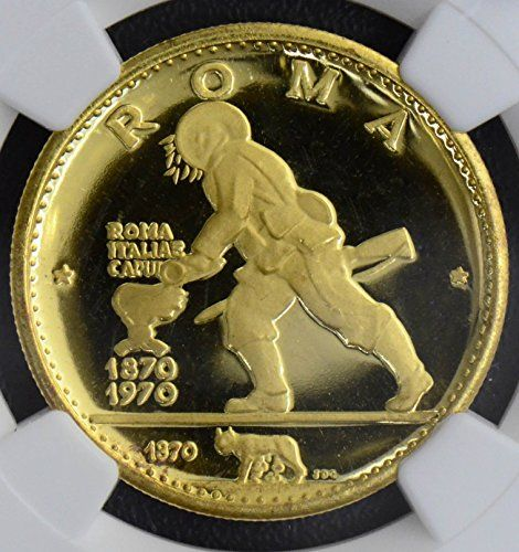 1970 IE NG0255 Ras Al-khaimah 75 Riyals NGC PF67 ultra cameo agw .4484oz of pure gold italian unification rare in this grade DE PO-01 NGC -- More info could be found at the image url.