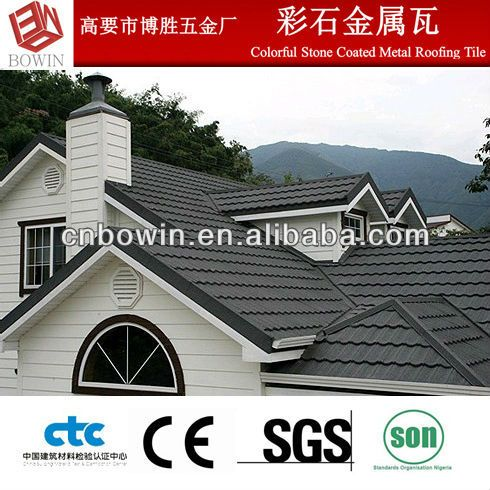 Colorful stone chip coated metal roofing tile terracotta roof tiles price $3.15~$4.33