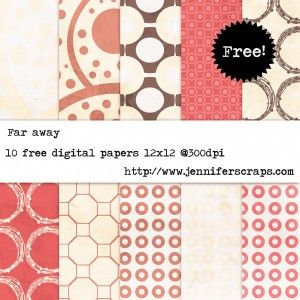 Far Away – Freebie Digital paper pack of the day