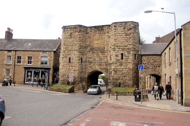 The Bondgate Tower-        This is part of the old wall around Alnwick
