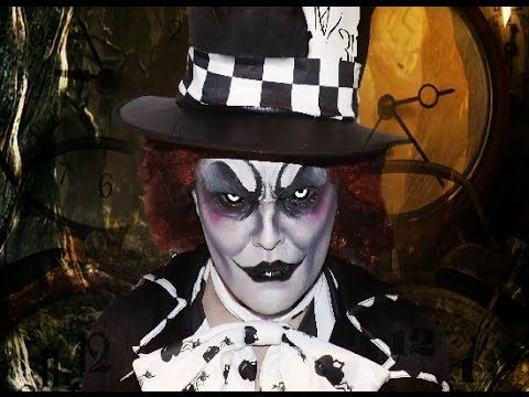 HD Makeup Tutorial for a dark evil version of The Mad Hatter from Alice in Wonderland! ----------------------------------------­­---------- Dark Hatter Costu...