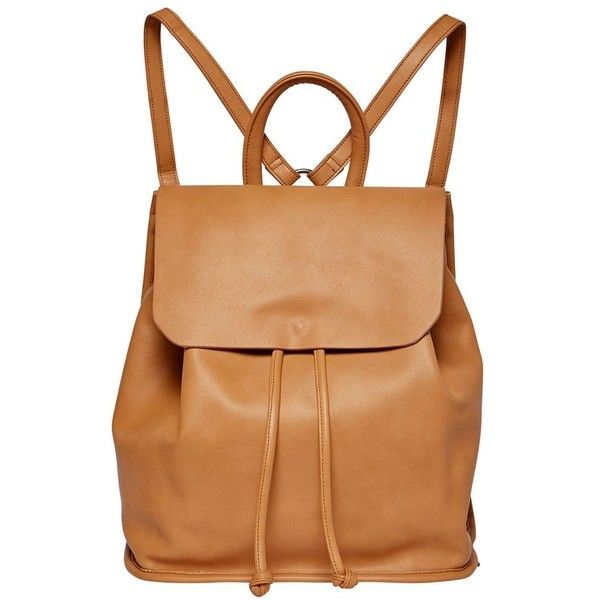 Women's Urban Originals Midnight Faux Leather Flap Backpack (1.172.865 IDR) ❤ liked on Polyvore featuring bags, backpacks, camel, camel backpack, backpack bags, rucksack bags, knapsack bag and camel bag