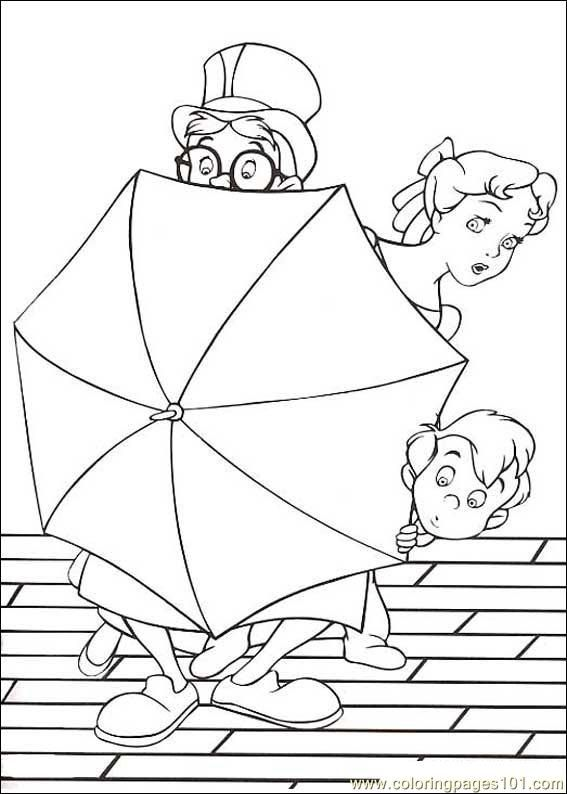 coloring pages of peter pan - photo#14