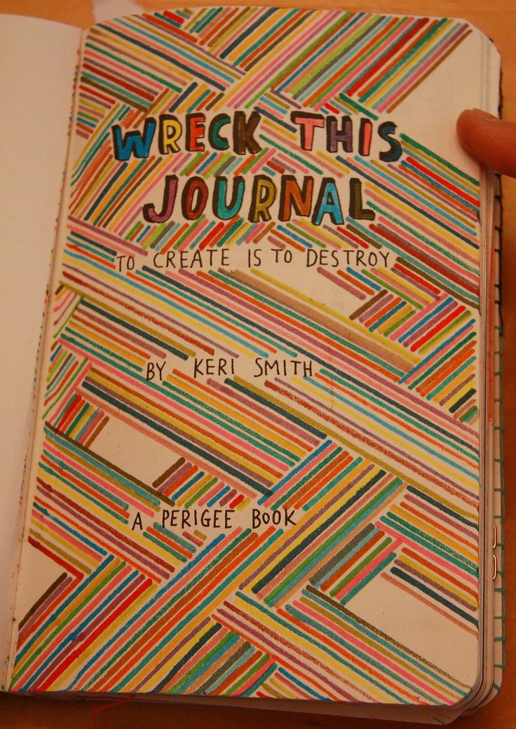 wreck this journal cover page ideas - Google Search