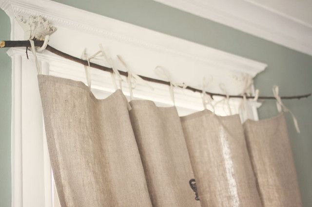 tree branch curtain rod decor i love pinterest