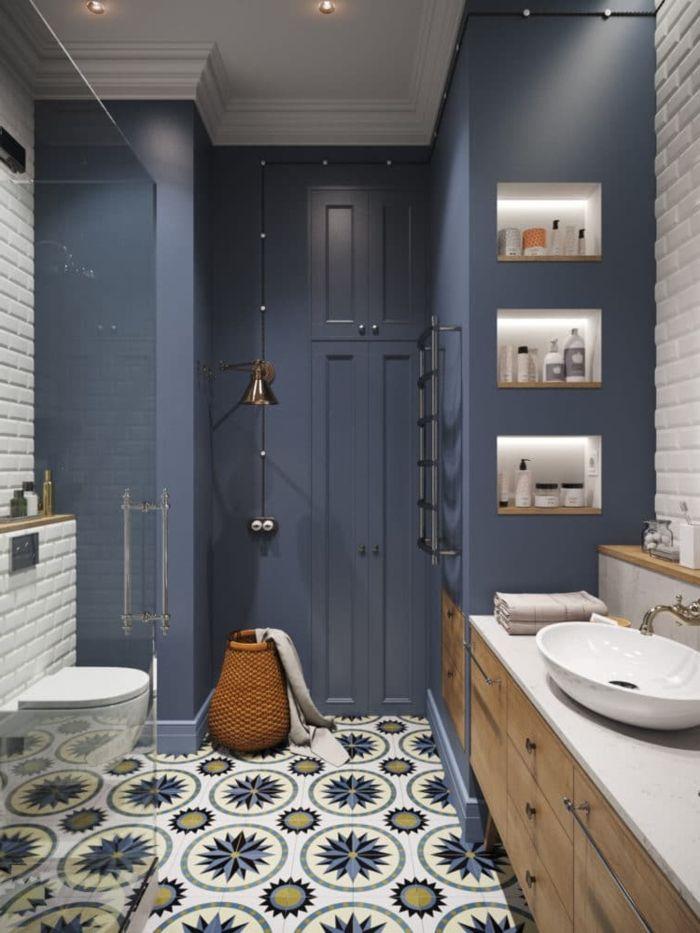 1001 Ideas De Los Mejores Azulejos Para Banos De Ultimas Tendecias Casa La Latina Azulejos Bano Lavaderos Blanco Y Azulejo De Cocina