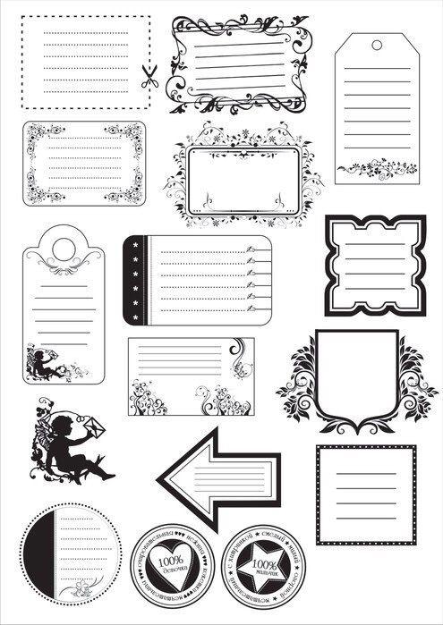 картинки для заметок черно белые приведу основные посылы