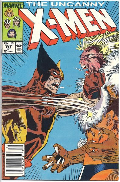Marvel Comics Uncanny X-Men 222 Wolverine vs Sabertooth / Marauders App. - Claremont Story VF 8.0