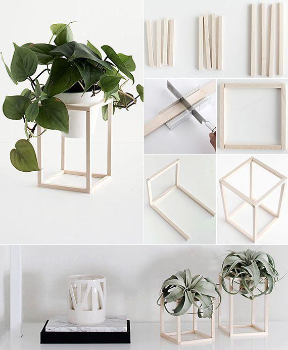 machen Sie es selbst Deko in Schwarz, Weiß und Holz  – Do it yourself Ideen