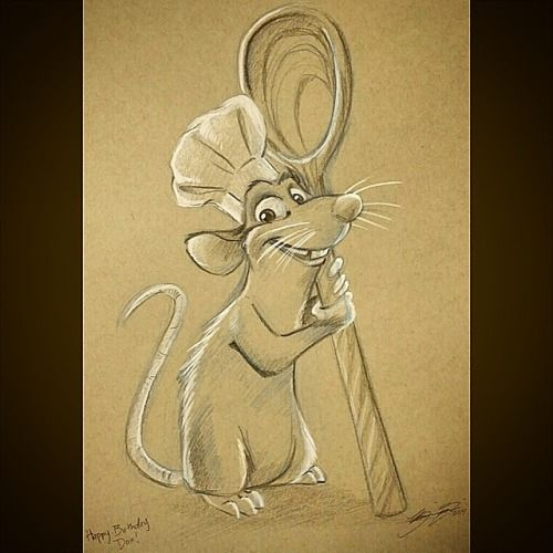danfranklinmusic:  Amazing birthday present from Brianna Garcia. Love it!!! #ratatouille #remy #art  You are most welcome!