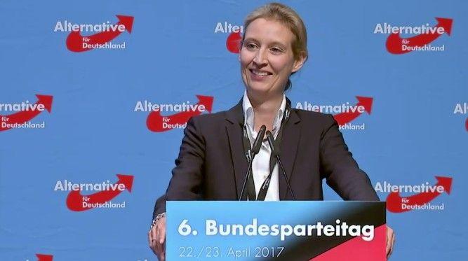 Der Parteitag in Köln wählte die Politikerin, die mit ihrer Partnerin zwei Söhne aufzieht, zur Spitzenkandidatin – und stimmte für ein Wahlprogramm, das sich u.a. gegen Regenbogenfamilien wendet. (Politik - Deutschland)