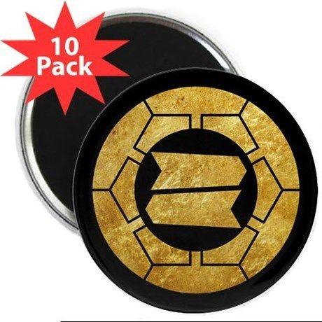 Hattori clan kamon in gold Magnets on CafePress.com